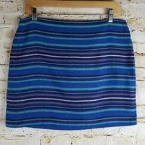 Gap Womens Size 8 Cotton Mini Skirt Woven Striped Lined Back Zip Photo