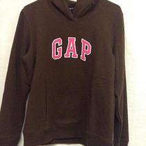 Gap Womens Size Medium Long Sleeve Hoodie Pullover Sweater Brown Gap Logo Photo