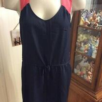 Gap Womens Size Small S Sleeveless Sheer Dress Navy Pink  Photo