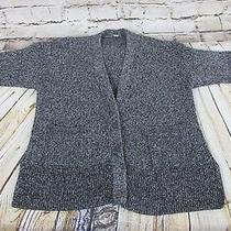 Gap Womens Size Xs/small Cardigan Sweater Black White Buttons Photo