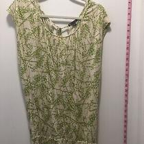 Gap Womens Size Xs Top Shirt Blouse Green Pattern Cream Vguc Photo
