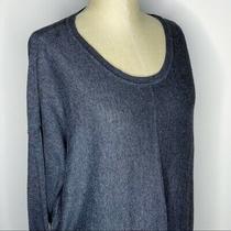 Gap  Womens Size Xxl Grey Single Seam Down Front Back Sweater Dolman Sleeves Photo