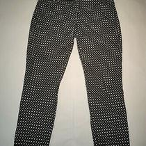 Gap Womens Slim Cropped Stretch Black and White Pants Size 10 Photo