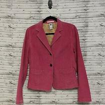 Gap Womens Sz8 Pink Corduroy Stretch Blazer Business Career Casual  Photo