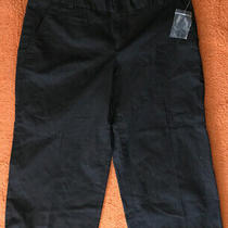 Gap Womens Wide Leg Crop Pants Black Size 4 R Stretch Nwot Photo