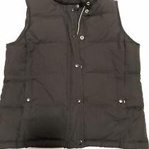Gap Womens Xs Down Filled Puffer Vest Brown Pockets Button Closure Full Zip Photo