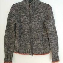 Gap Womens Zip Up Long Sleeve Cardigan Sweater Jacket Gray 100% Lambs Wool Sz S  Photo