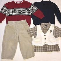 Gap  Wonder Kids Toddler Boys Clothes Lot 24m Sweater Corduroy Pants Vest Photo