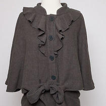Gap Wool/acrylic Cape Grey M/l Nwot Photo