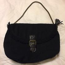 Gap Wool Acrylic Purse Handbag Tote Bag Shoulder Bag   Color Black Photo