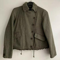 Gap Wool Women Jacket - Military Green - Xs Preowned Photo