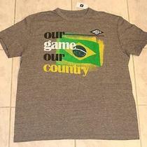 Gap X Umbro Mens Brazil Soccer Soft Slub Jersey Shirt Rare World Cup Grey New M Photo