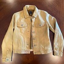 Gap Xs Womens Yellow Leather Jacket Photo