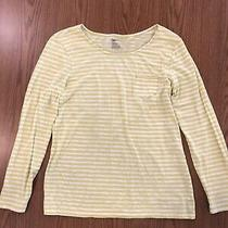 Gap Yellow and White Striped Top (Size l) Photo