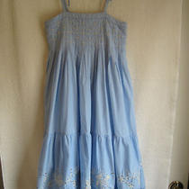 Gap Youth Xl(12) Sun Dress With Beads & Sequins & Attached Underskirt Euc Photo