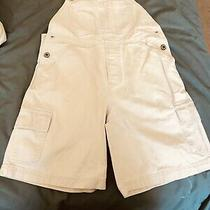Gap Youth Xl Off White Overall Solid Shorts Photo