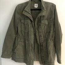gap/zara/h&m Khaki Green Shurt Shacket Size 8/xs Photo