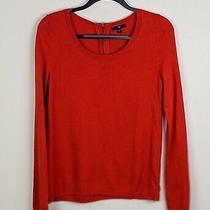 Gap Zipper Sweater in Grenadine Red / Orange (Size s) Photo