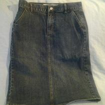 Gapjeans Long Denim Skirt W/ Great Slit Up Back -  Size 10 - a Wardrobe Staple Photo
