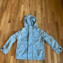 Gapkids Boys Lightweight Fall Spring Tan Jacket Xs (Size 4/5) Hood Nwot Photo