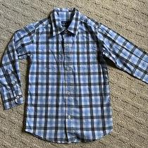 Gapkids Boys Xs (4-5) Blue Long Sleeve Button Up Dress Shirt Pre Owned Photo