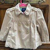 Gapkids Girl's Khaki Double-Breasted Trench Coat Size Xs Photo