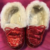 Gapkids Girls 1/2 Youth Red Glitter Slippers Photo