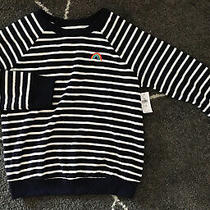 Gapkids Girls L Size 10 Long Sleeve Sweatshirt Sweater Navy White Stripes Photo