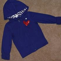 Gapkids Girls Xs 4 5 Sweatshirt Jacket Hoodie Navy Heart Cest La Vie Gap Kids Photo