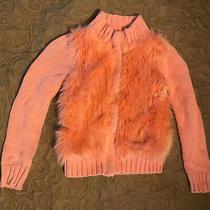 Gapkids Orange Fuzzy Sweater/jacket - Size 6-7 - Gently Worn Photo