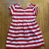 Gapkids Red and White Stripe Dress Size Xs (4-5) Photo