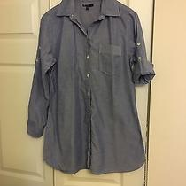 Gapmaternity Blue Button Down Shirt Photo