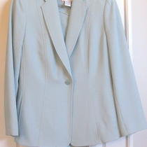 Garfield & Marks  3-Pc Womens Pant Suit W/h Silk Knit Top Size 8 Aqua Green Photo
