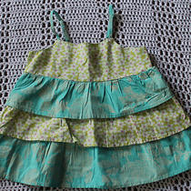Garnet Hill Sleeveless Tiered Ruffle Top Aqua  Plaid Size 3 Years 03 Photo