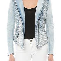 Generation Love Maya Jacket - Quilted Denim Size Large - Bleached Indigo Blue Photo
