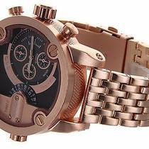 Geneva 2 Time Zone Metal Rose Gold Oversize Classy Men's Monarca Wrist 3d Watch Photo