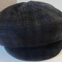 Genie Wallace Eugenia Kim Nwt 130 Grey Charcoal Wool Newsboy Hat Cap M Medium Photo