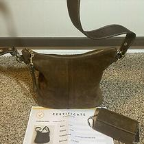 Geniune Brown Leather Coach Purse With Matching Wallet & Cert of Authentucity Photo