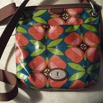 Geniune Fossil Crossbody. Bright and Colorful Photo