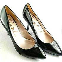Genkek Pointed Toe Pumps High Gloss Black Chloe Heels Shoes Size 38 24.4 Cm Photo