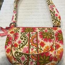 Gently Used 1x Vera Bradley Folkloric  Quilted Saddle Up Shoulder Bag Purse 7x9 Photo