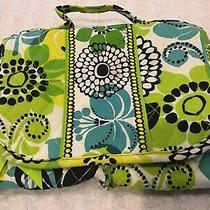 Gently Used 1x- Vera Bradley Limes Up Organizer Travel Toiletry Bag 9x18 Unfold Photo