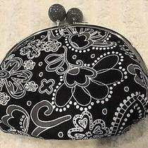 Gently Used 1x  Vera Bradley Midnight Paisley Double Kisslock Coin Purse 5x4 Photo