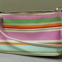 Gently Used Authentic Coach Handbag Multicolor Clutch for Summer Photo