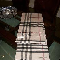 Gently Used Burberry London 100% Cashmere Nova Check Scarf 395 Nordstrom Photo