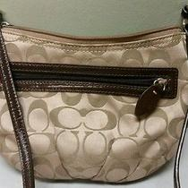 Gently Used Coach Handbags Tan Messenger Signature Collection  Photo