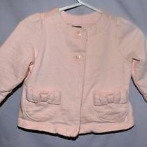 Gently Used Perfect Cute Light Pink Jacket W/ Bow Pockets Baby Gap 3-6m Photo