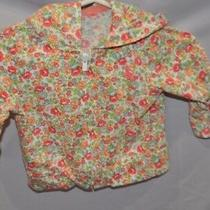 Gently Used Perfect Cute Pink Floral Lightweight Jacket With Ears Baby Gap 0-3m Photo