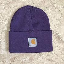 Gently Used Purple Carhartt  Hat Beanie Sock Cap Unisex Photo