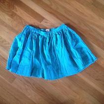 Gently Used Size M Mossimo Cotton Skirt Turquoise Woven Pattern Elastic Waist Photo